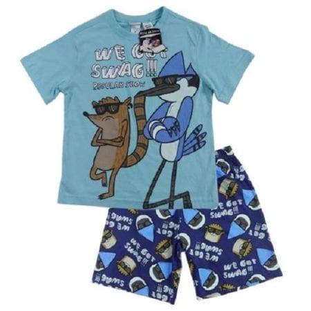 Boys-PJ-Pyjama-Regular-Show-Pajama-Size-7-14-Mordecai-Rigby-We-got-Swag-322254988787