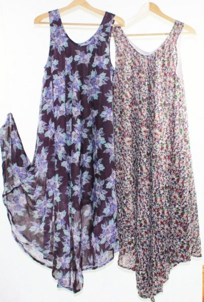 Flared-Dress-Umbrella-Drape-Long-Plus-Size-10-20-Chiffon-Tunic-Summer-Swing-222300770338
