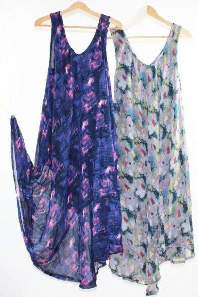 Flared-Dress-Umbrella-Drape-Long-Plus-Size-10-20-Chiffon-Tunic-Summer-Swing-222301759397-2