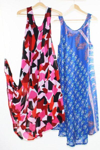 Flared-Dress-Umbrella-Drape-Long-Plus-Size-10-20-Chiffon-Tunic-Summer-Swing-222301852755