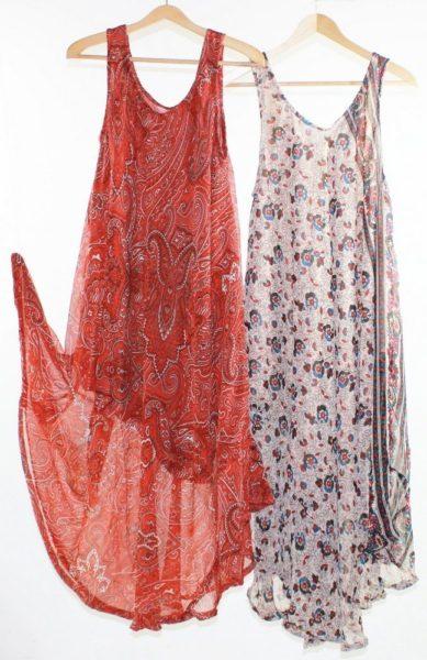 Flared-Dress-Umbrella-Drape-Long-Plus-Size-10-20-Chiffon-Tunic-Summer-Swing-222301862855