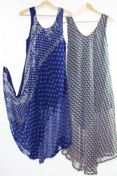 Flared-Dress-Umbrella-Drape-Long-Plus-Size-10-20-Chiffon-Tunic-Summer-Swing-322314439535-2