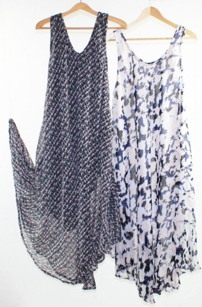 Flared-Dress-Umbrella-Drape-Long-Plus-Size-10-20-Chiffon-Tunic-Summer-Swing-322314446211