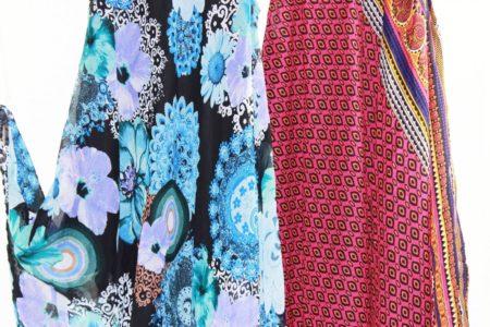 Flared-Dress-Umbrella-Drape-Long-Plus-Size-10-20-Chiffon-Tunic-Summer-Swing-322314540552