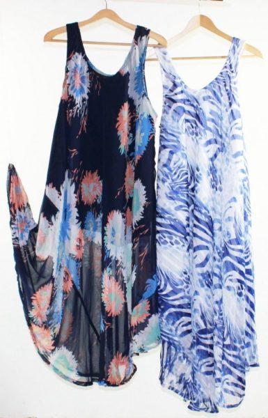 Flared-Dress-Umbrella-Drape-Long-Plus-Size-10-20-Chiffon-Tunic-Summer-Swing-322314547764