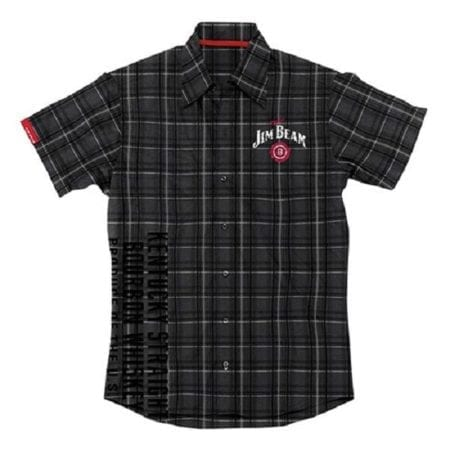 JIM-BEAM-Shirt-Black-Check-Casual-Top-Size-M-L-XXL-Plus-Offical-Dress-Pit-222339115053