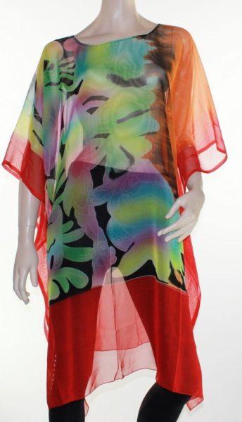 Kaftan-Dress-Caftan-Long-Plus-Size-10-30-Women-Colourful-Sheer-Resort-Cover-Up-322305286713