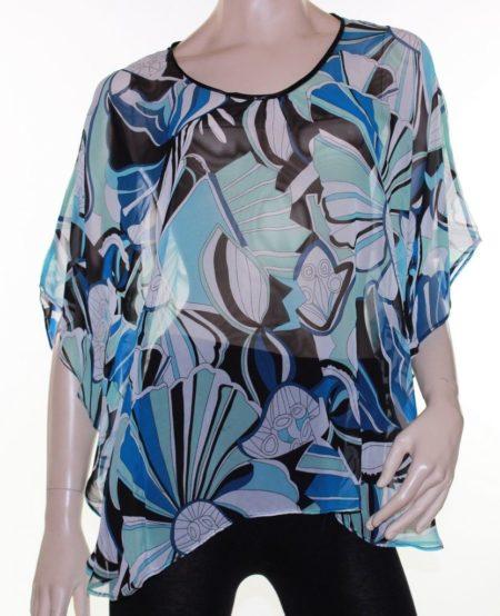 Kaftan-Top-Caftan-Blouse-Batwing-Plus-Size-8-26-Women-Sheer-Blue-Cover-Up-222291423843