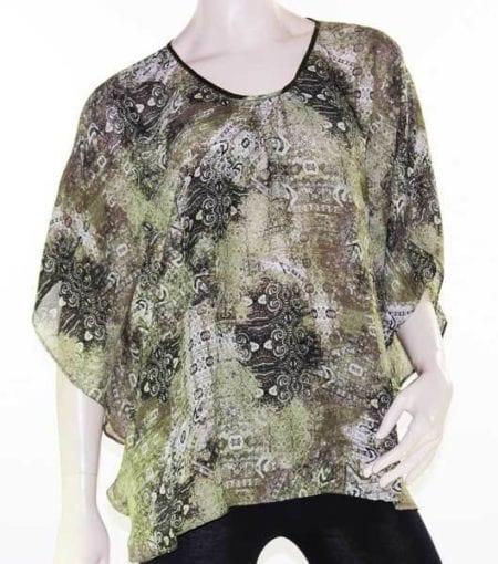 Kaftan-Top-Caftan-Blouse-Batwing-Plus-Size-8-26-Women-Sheer-Resort-Cover-Up-322468619443