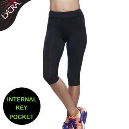Leggings-Pants-Sports-Activewear-Lycra-Black-Gym-Running-Walking-Yoga-Crop-322464422127