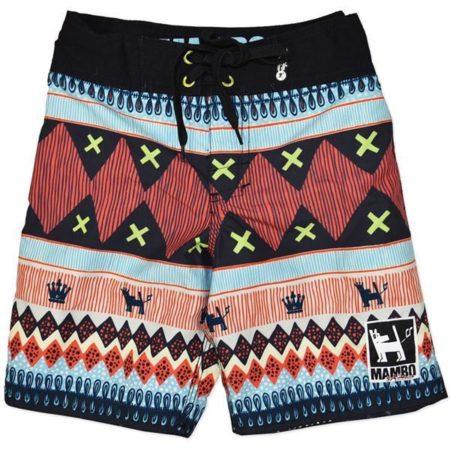 MAMBO-Board-Shorts-Sz-8-10-12-14-Boy-Trendy-Print-Boardies-Surf-Multi-Coloured-222201727225