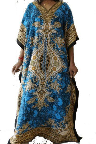 Maxi-Kaftan-Dress-Caftan-Sz-10-26-Women-Paisley-Long-Beach-Cover-Up-Summer-222387202505