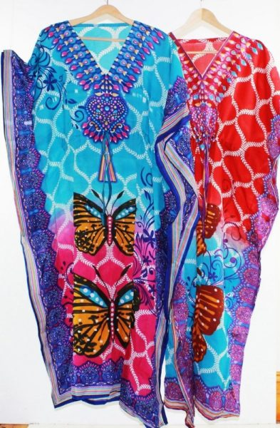 Maxi-Kaftan-Dress-Caftan-Sz-8-20-Women-Paisley-Long-Beach-Cover-Up-Butterfly-222301909985