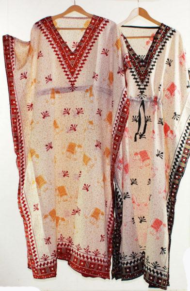 Maxi-Kaftan-Dress-Caftan-Sz-8-20-Women-Paisley-Long-Beach-Cover-Up-Tribal-322314579801