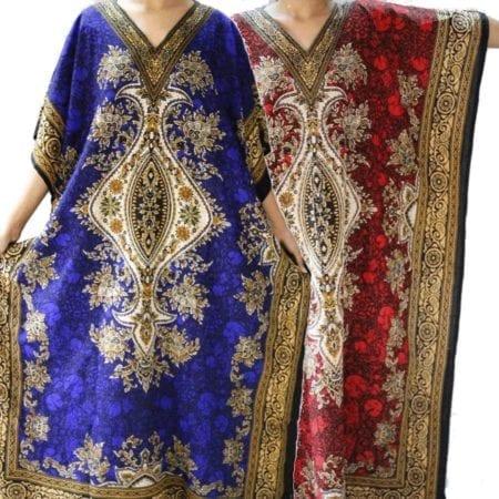 Maxi-Kaftan-Dress-Caftan-Sz-8-26-Women-Paisley-Long-Beach-Cover-Up-Summer-222387196697
