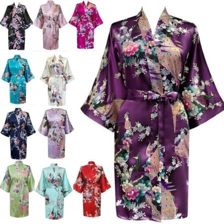 Robes-Kimono-Bridal-Peacock-Satin-Bath-Dressing-Bridesmaid-Gown-Floral-Wedding-321596060759