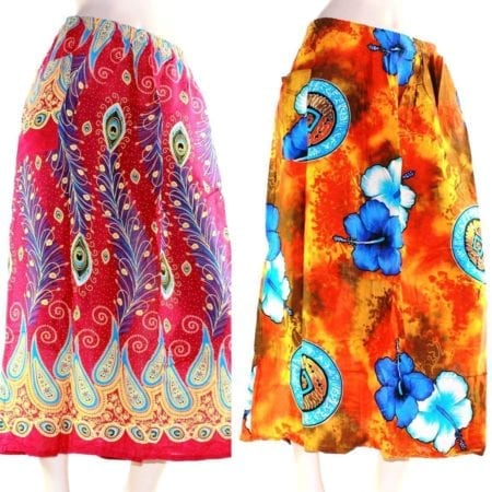 Skirt-Casual-Plus-Size-24-Multi-Coloured-Bright-Summer-Rayon-Cool-Beach-Sun-222352370649