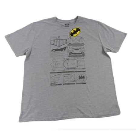T-Shirt-Batman-Batmobile-Grey-Tee-Top-Plus-Size-4XL-7XL-DC-Comics-Offical-322255020259