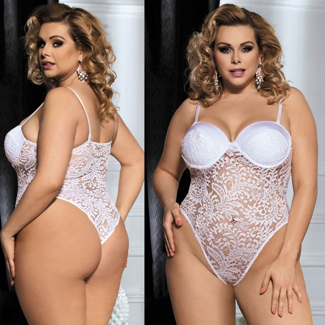 2ac45643d31 Bridal Lingerie White Lace Teddy Plus Size Wedding