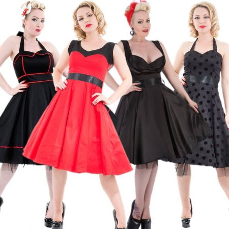 14 x HEARTS & ROSES London Dress Wholesale Bulk Lot Rockabilly Pin Up Retro