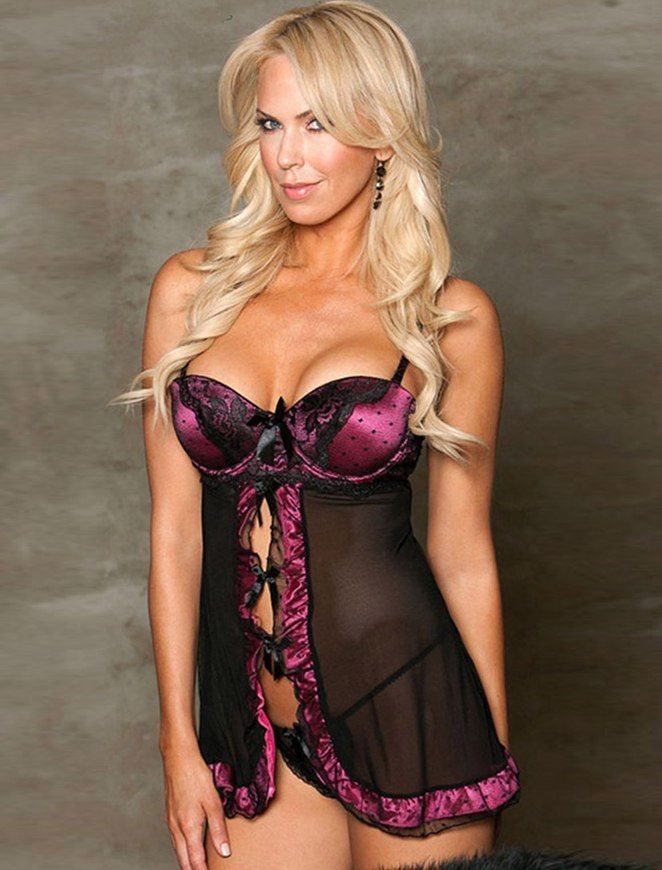944a30d004 ... Babydoll Lingerie + G String Pink Black Plus Size M XL 3XL 5XL Sheer  Lace Ruffle Return to Previous Page. lightbox · lightbox · lightbox