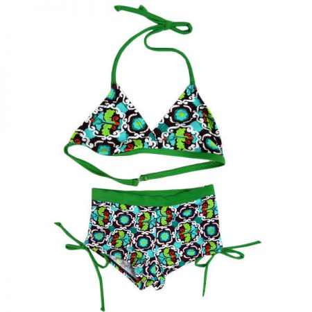 Bikini Bathers Boyleg MILLY Girls Size 2 - 8 Green Blue Red Swimwear Halter