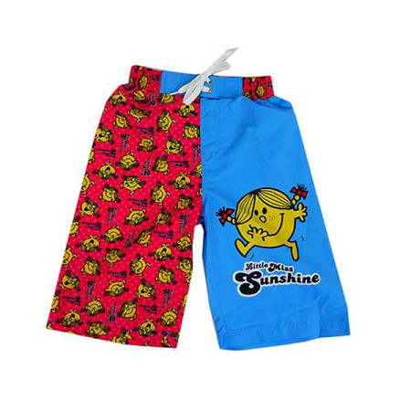 Board Shorts Boardies Little Miss Sunshine Size 3 - 7 Pink Blue Swimwear Bathers