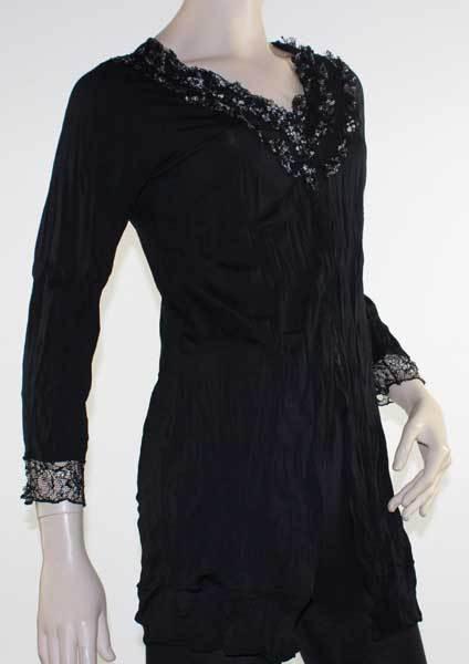 Cardigan Black Lace Jacket Drape Plus Size 10 12 14 16 18 20 EVERSUN