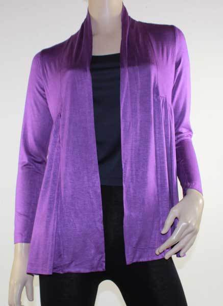 Cardigan Purple Drape Cardi Plus Size 10 12 14 16 18 20 EVERSUN