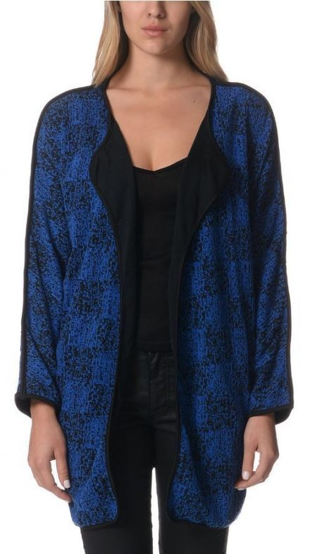 Drape Cardigan LILIA WHISPERS Black Blue Plus Sizes 10 - 18 Women Long Jacket