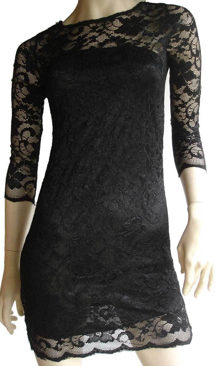 faca70f23c1 Ladies Black Lace Dress Size 12 - Gomes Weine AG