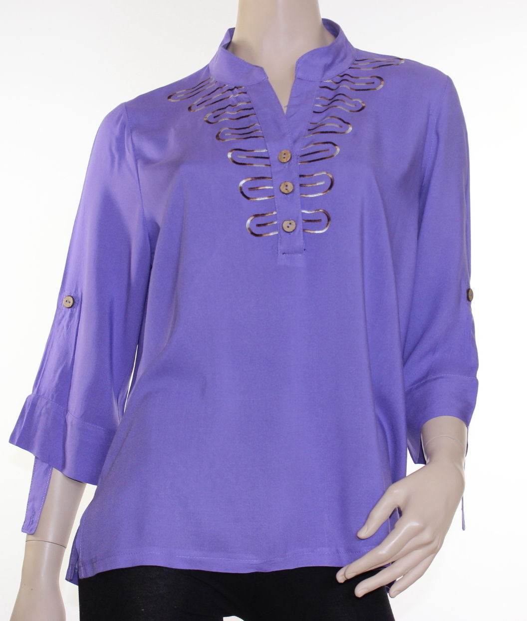 Elegant Blouse Top Shirt Embroidered Size 10 12 14 16