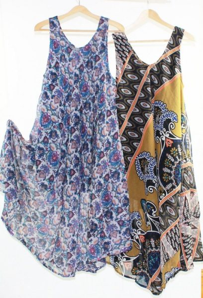 Flared-Dress-Umbrella-Drape-Long-Plus-Size-10-20-Chiffon-Tunic-Summer-Swing-222301756362