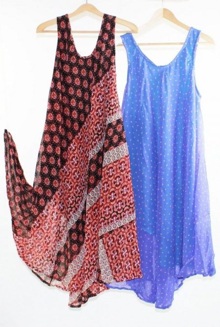 Flared Dress Umbrella Drape Long Plus Size 10 - 20 Chiffon Tunic Summer Swing