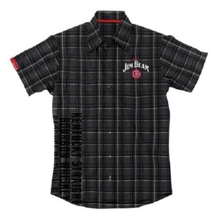 JIM-BEAM-Shirt-Black-Check-Casual-Top-Size-M-L-XXL-Plus-Offical-Dress-Pit-222339115053