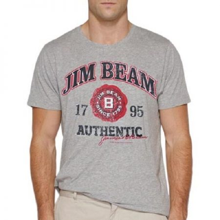 JIM BEAM T Shirt Grey Tee Top Size S Offical
