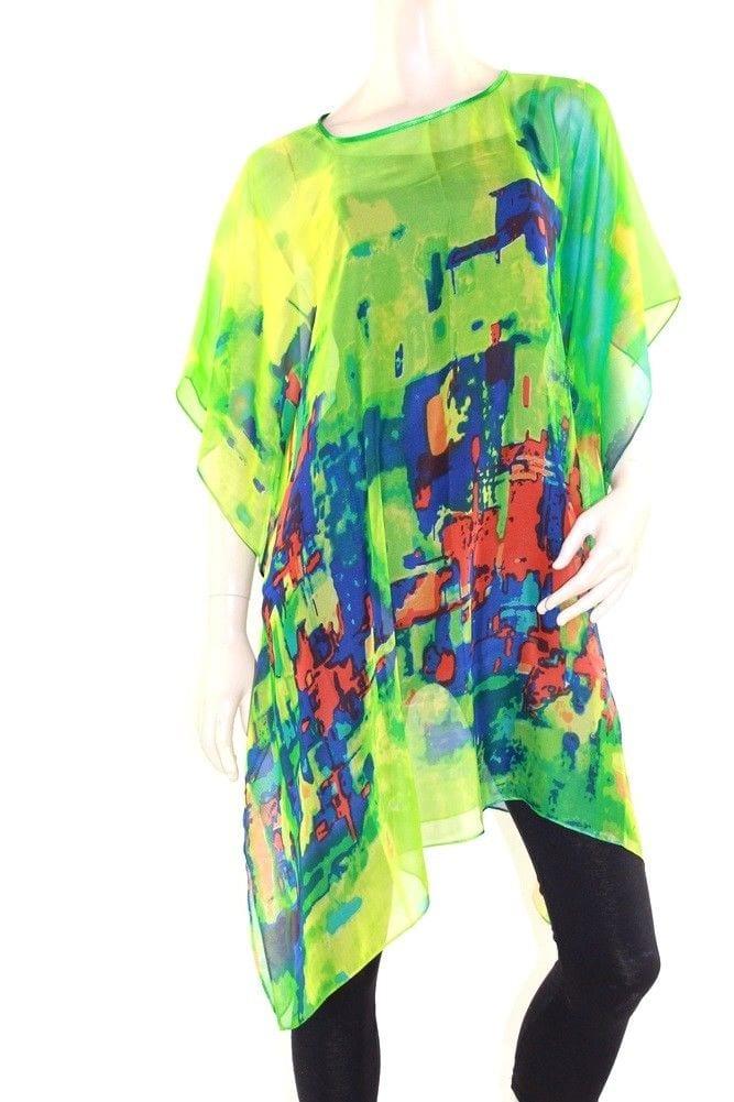 Kaftan Dress Caftan Long Plus Size 10 – 28 Women Colourful Sheer Resort Cover Up