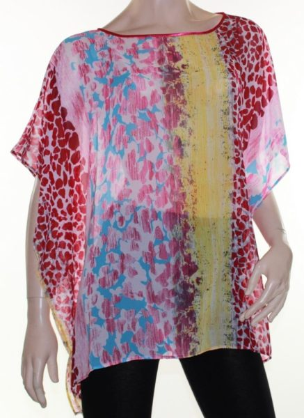 Kaftan-Top-Caftan-Blouse-Batwing-Plus-Size-8-24-Women-Sheer-Colourful-Cover-Up-322302113176