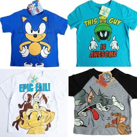 Licensed-T-Shirt-Tee-Sz-1-7-Sonic-Road-Runner-Marvin-Martian-Cotton-Original-221881843508