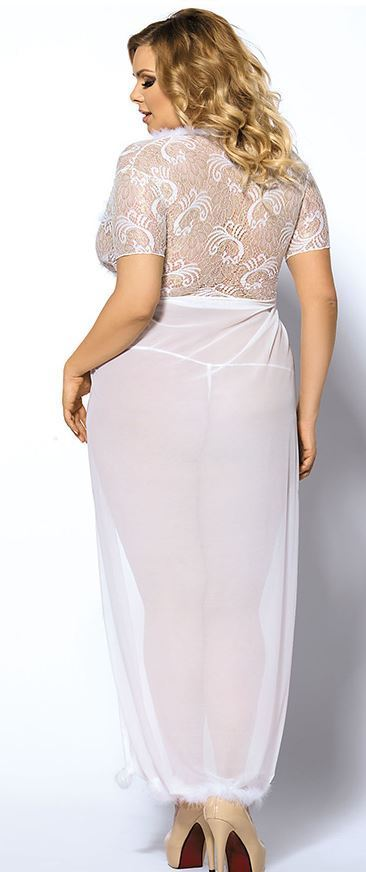 a35a5af51 Long Lace Robe - Glam up Your Wedding Night