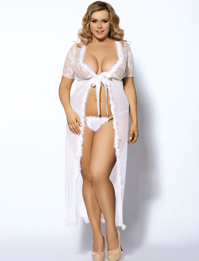 Plus Size Lingerie Bridal Gowns 33
