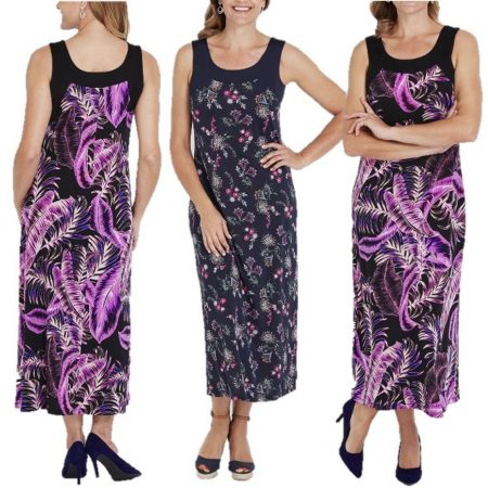 MILLERS Maxi Dress Plus Size 12 14 16 18 20 22 Navy Blue Purple Floral Long