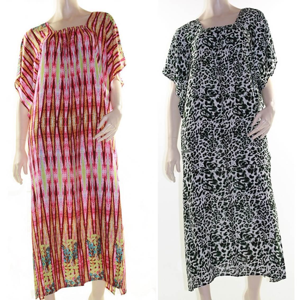 bb776deb13bf0 Maxi Kaftan Dress Caftan Plus Size 10 - 30 Women Paisley Long Cover ...