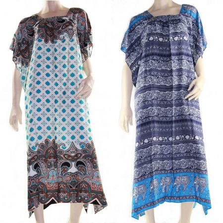Maxi Kaftan Dress Caftan Plus Size 10 - 30 Women Paisley Long Cover Up Summer