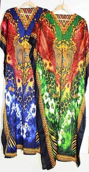 Maxi Kaftan Dress Caftan Sz 8 - 26 Women Paisley Long Beach Cover Up Summer