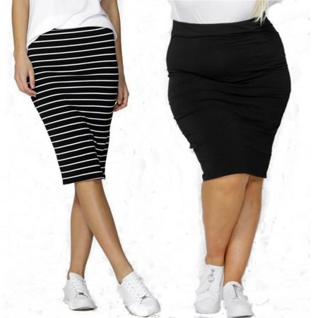 Midi Skirt Alicia by Betty Basics Sizes 10 12 14 16 18 Black White Knee Length