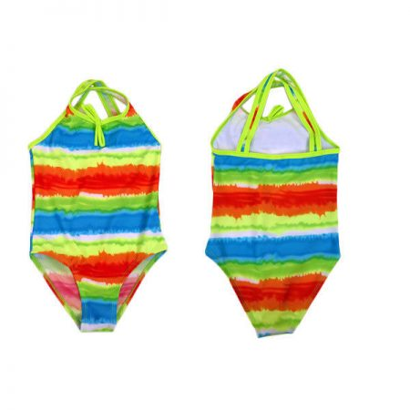 One-Piece-Bathers-MILLY-Girls-Size-2-8-Orange-Green-Swimwear-Stripe-Rainbow-321546809273
