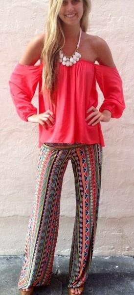 Palazzo-Wide-Leg-Pants-Trousers-Tribal-Print-Casual-Womens-Size-10-12-14-221951395795