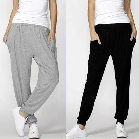 Paris Pant by BETTY BASICS Size 10 12 14 16 18 Harem Track Casual Grey Black