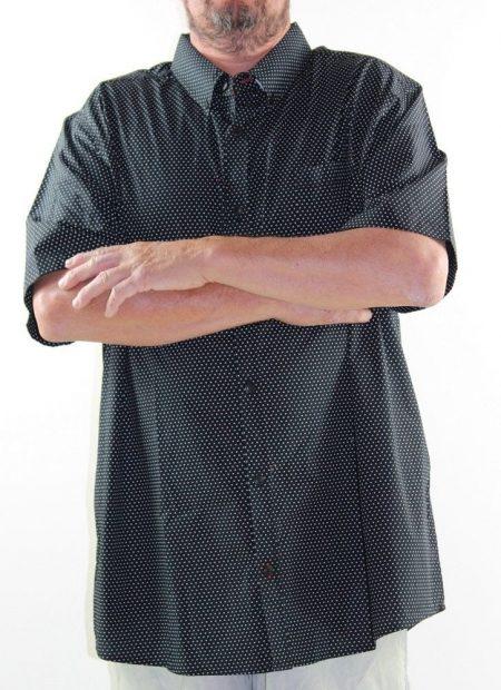 Short Sleeve Shirt LOWES DBK Originals Big Mens Size 5XL Black White Spot Plus